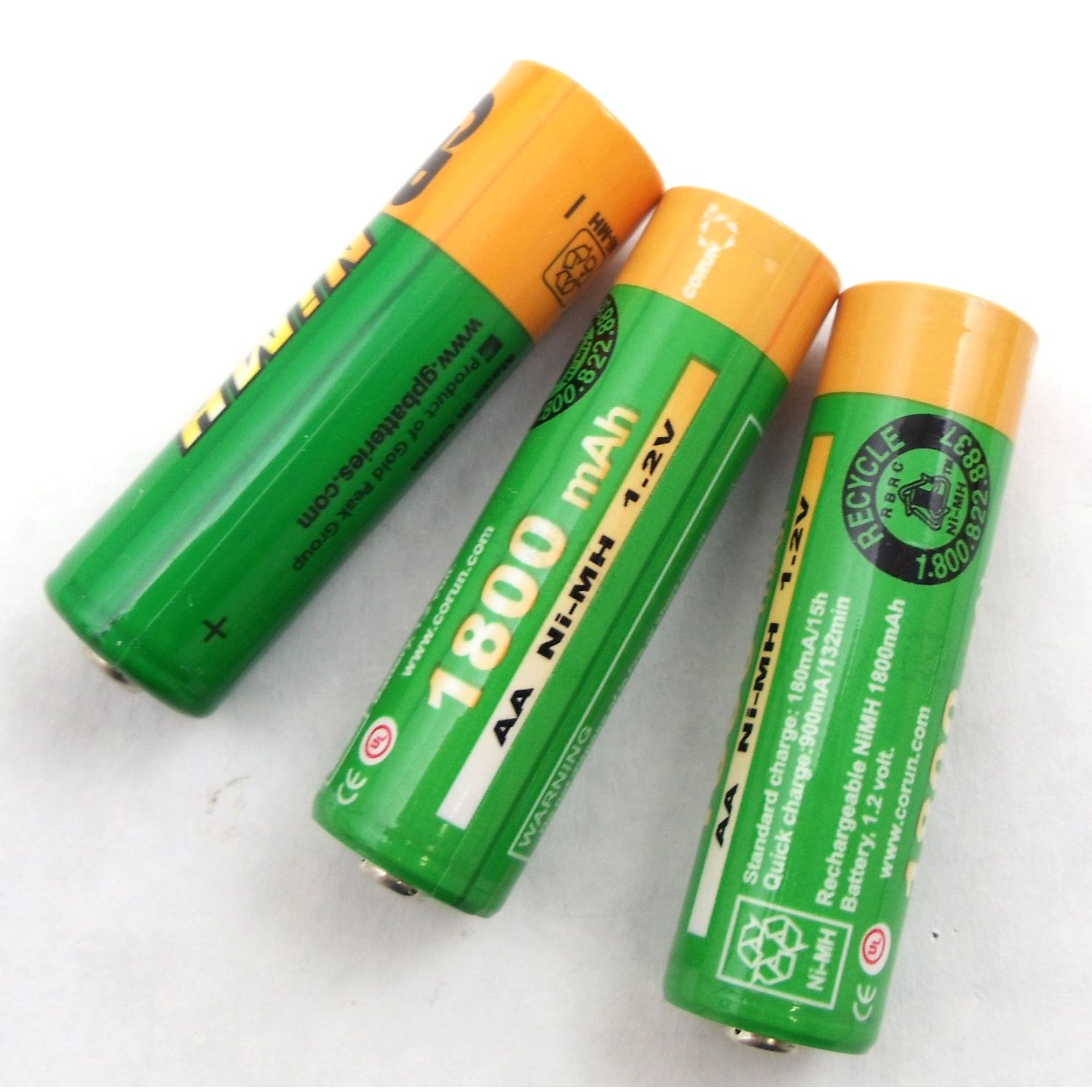 "BBTY0535001 - Uniden Bearcat Set Of 3 ""AA"" 1800MAH NI-MH Rechargeable Batteries"