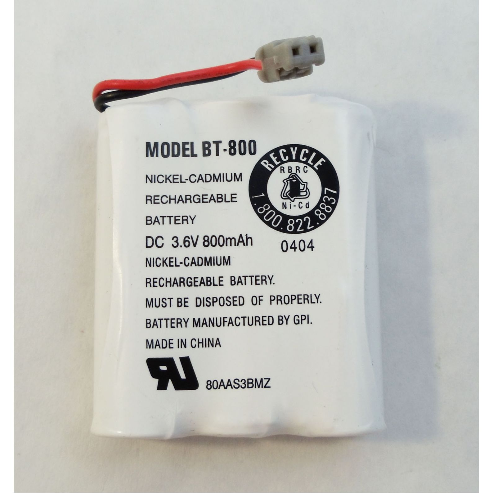 BT800 - Uniden Bearcat Replacement Battery Pack