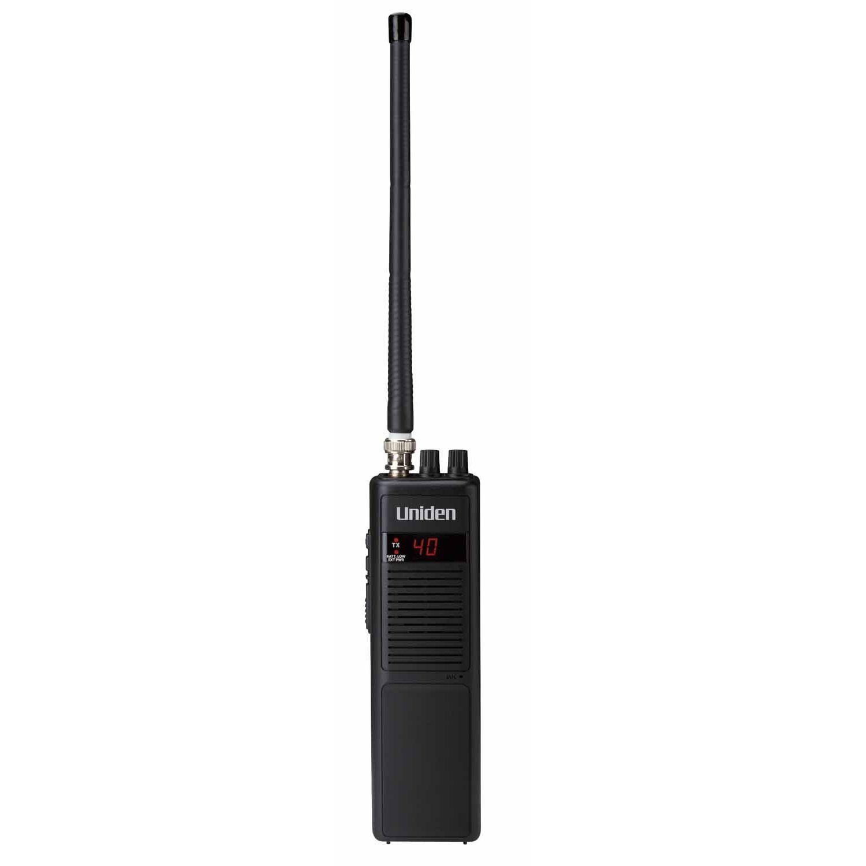 PRO401HH - Uniden Handheld 40 CH CB Radio with DC Adapter & Flex Antenna