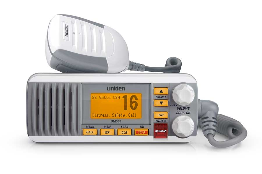 UM385 - Uniden 25 Watt Fixed Mount Marine Radio with DSC (White)