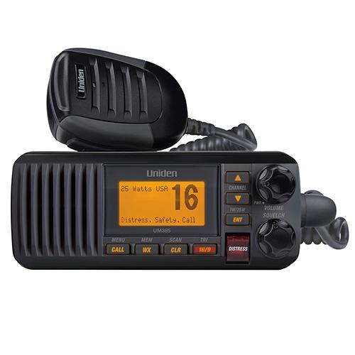 UM385BK -Uniden 25 Watt Fixed Mount Marine Radio with DSC (Black)