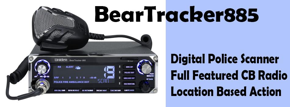 BEARTRACKER885 CB Radio Hybrid Digital Scanner