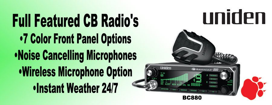 Uniden Bearcat Scanners, CB Radios, Accessories, and More!