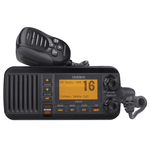 UM435BK - Uniden Fixed-Mount VHF Radio (Black) with Handheld Microphone